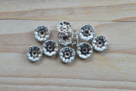 Rhinestone spacers ca. 10 mm (per 10 stuks)