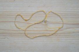 Citrien gefacetteerde ronde kralen ca. 3 mm (seedbeads)