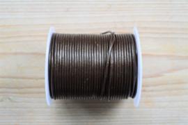 Rundleer 2 mm  Donkerbruin per meter