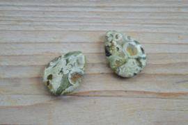 Rhyolit flache Tropfen ca. 18 x 25 mm pro 2