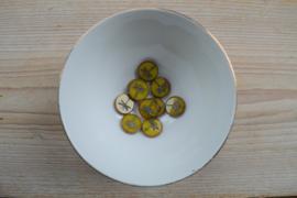 Libelle/Dragonfly Table Cut Bead Opal Yellow ca. 17x4mm per stuk