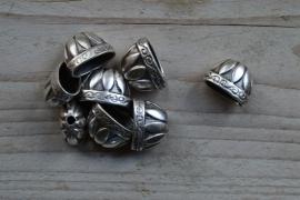 Metalen perlenkap ca. 13 x 19 mm pro stück