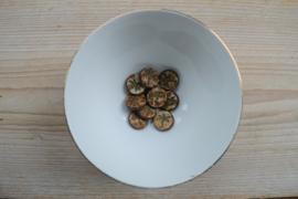 Libelle/Dragonfly Table Cut Bead Opaque Vanille Brown   ca. 17x4mm per stuk