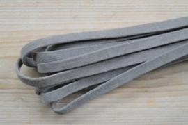 Plat nappaleer Suede 10 mm Bruingrijs per 10 cm
