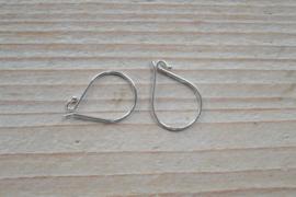 Oorbel sterling zilver `Eenvoud` ca. 11 x 18 mm (per 2)