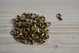Bronskleurige karabijnsluiting ca. 8 x 14 mm per 3 stuks