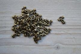 Bronzen strik ca. 12 x 16 mm per 5 stuks
