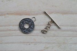 Kappitelsluiting sterling zilver Rond ca. 15 mm