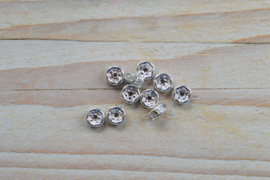Rhinestone spacers ca. 6 mm (per 10 stuks)