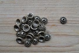 Metalen kraalkap ca.13 mm per 10 stuks
