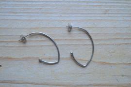 RVS oorstekers ca. 38 mm per paar
