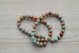Impression Jaspis runde Perlen 8 mm