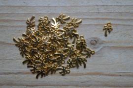Goudkleurige bedel palmboom ca. 8 x 11 mm per 3 stuks
