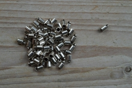 Metalen eindkap 3 mm ca. 4 X 8 mm per 2 stuks
