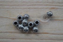 Kraal sterling zilver ca. 9 x 10 mm