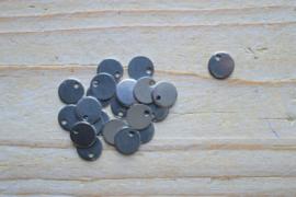 RVS bedel rond ca. 8 mm per 3 stuks
