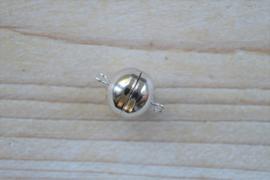 Magneet sluiting sterling zilver diameter ca. 14 mm