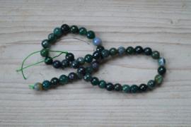 Mos Achat facettierte runde Perlen 8 mm
