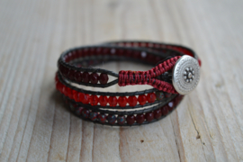 3-Wraparmband Bordeaux/Red