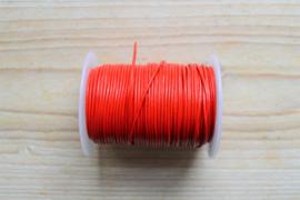 Rundleer 1 mm Rood per meter