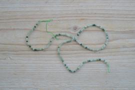 Mos Achat  facettierte runde Perlen ca. 2 mm (seedbeads)