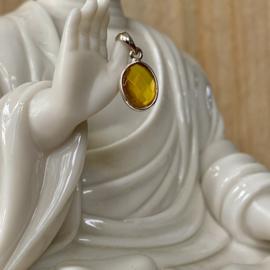 Sterling zilveren hangertje met Gele Onyx
