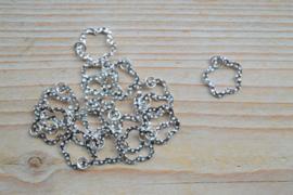 Tussenstuk sterling zilver Bloem  ca. 15 mm per stuk