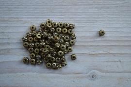 Bronskleurige tussenkraal ca. 5 x 6 mm per 10 stuks