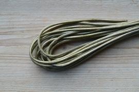 Rundes nappaleder 4 mm Metallic Hellgrün pro 10 cm