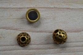 Bronskleurige bolmagneet 4 mm ca. 14 mm per stuk
