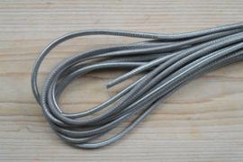 Rond nappaleer  4 mm Zilver per 10 cm