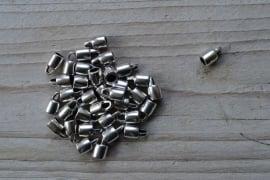 Metalen eindkap 4 mm ca. 6 x 10.5 mm per 2 stuks