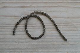 Kristalstreng bruinig  gefacetteerde rondellen ca. 3 x 4 mm