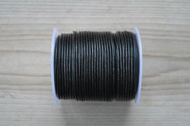 Rundleer 2 mm Zwart per meter