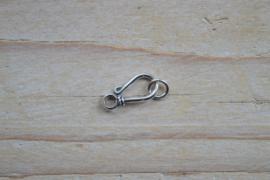 Haakslot sterling zilver `Bali` ca. 7 x 16 mm