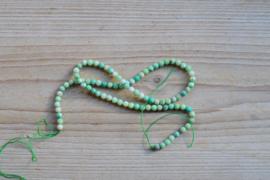 Grün Gras Achat facettierte runde Perlen 4 mm