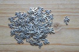 Metalen bedel palmboom ca. 8 x 11 mm per 4 stuks