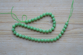 Groene Angeliet ronde kralen ca. 8 mm A klasse