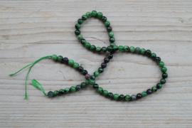 Rubin-Zoisit runde Perlen 6 mm