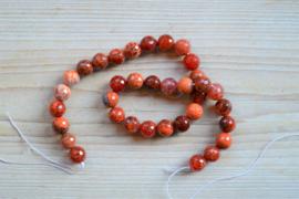 Rotes Feuerachat facettierte runde Perlen 12 mm