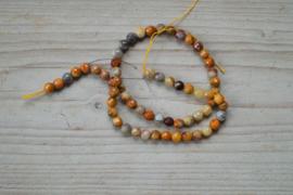 Crazy Lace Achat facettierte runde Perlen 6 mm