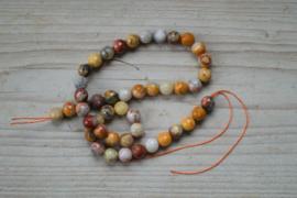 Crazy Lace Achat facettierte runde Perlen 8 mm
