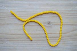 Kristalstreng geel gefacetteerde rondellen ca. 3 x 4 mm