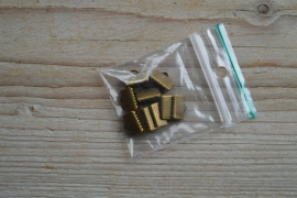 Bronsfarbige Kordelklemmen ca. 5 x 10 mm per 10 stück