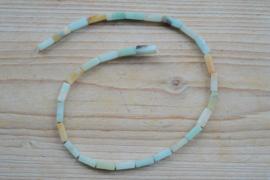 Mehrfarbig Amazoniet Rechtecken ca. 4 x 13 mm