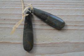 Set Red Creek Jaspis hangers voor oorbellen C ca. 12 x 45 mm