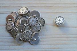 Metalen knoop 'ster' ca. 17 mm per 2 stuks