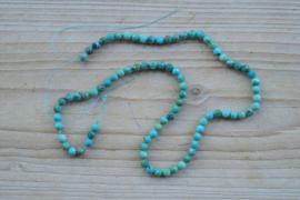 Türkis facettierte runde Perlen ca. 5 mm
