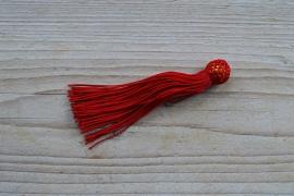 Kwastje nylon rood ca. 12 x 50 mm
