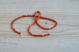 Rotes Feuerachat facettierte runde Perlen 4 mm